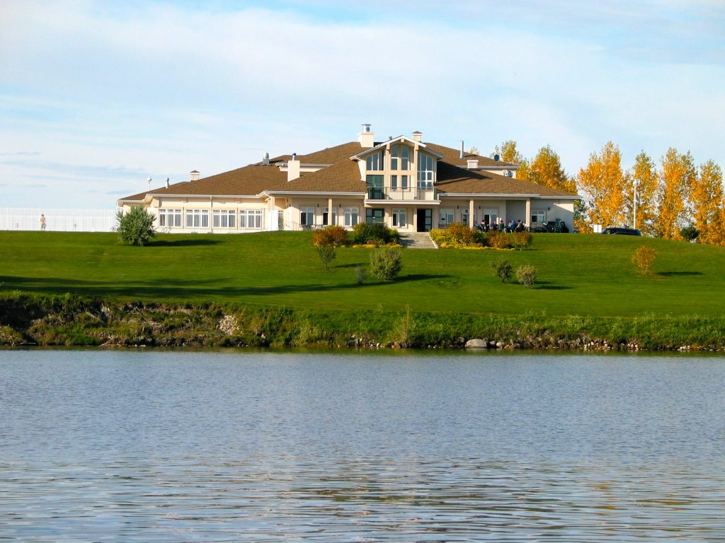 The clubhouse from the water 2